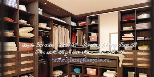 HỆ TỦ QUẦN ÁO DẠNG CHỮ L cho phòng lưu trữ quần áo