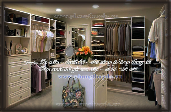 TỦ QUẦN ÁO KHÔNG CÁNH  lưu trữ quần áo