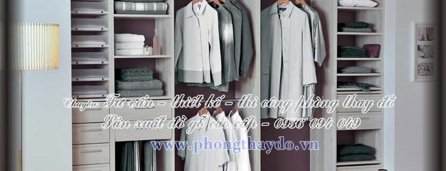 Tủ âm tường cho phòng lưu trữ quần áo