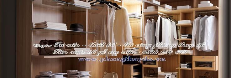 Thiết kế tủ quần áo nam đơn giản cho phòng thay đồ