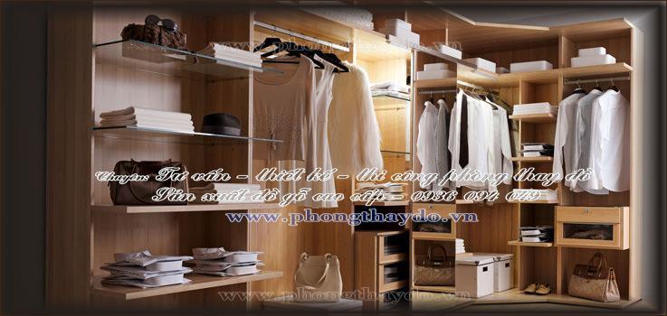 Thiết kế tủ quần áo nam đơn giản trong phòng lưu trữ quần áo