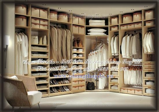 Mẫu thiết kế tủ áo tận dụng góc chữ L