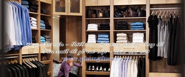 Tủ áo tận dụng góc chữ L