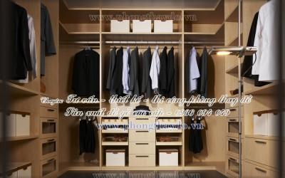 Mẫu thiết kế hệ tủ âm tường trong phòng thay đồ nam giới