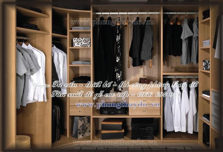 TỦ QUẦN ÁO MDF LỚN cho phòng thay đồ