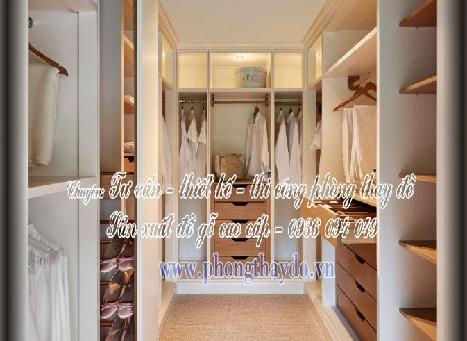 Mẫu thiết kế tủ áo nhỏ cho phòng thay đồ
