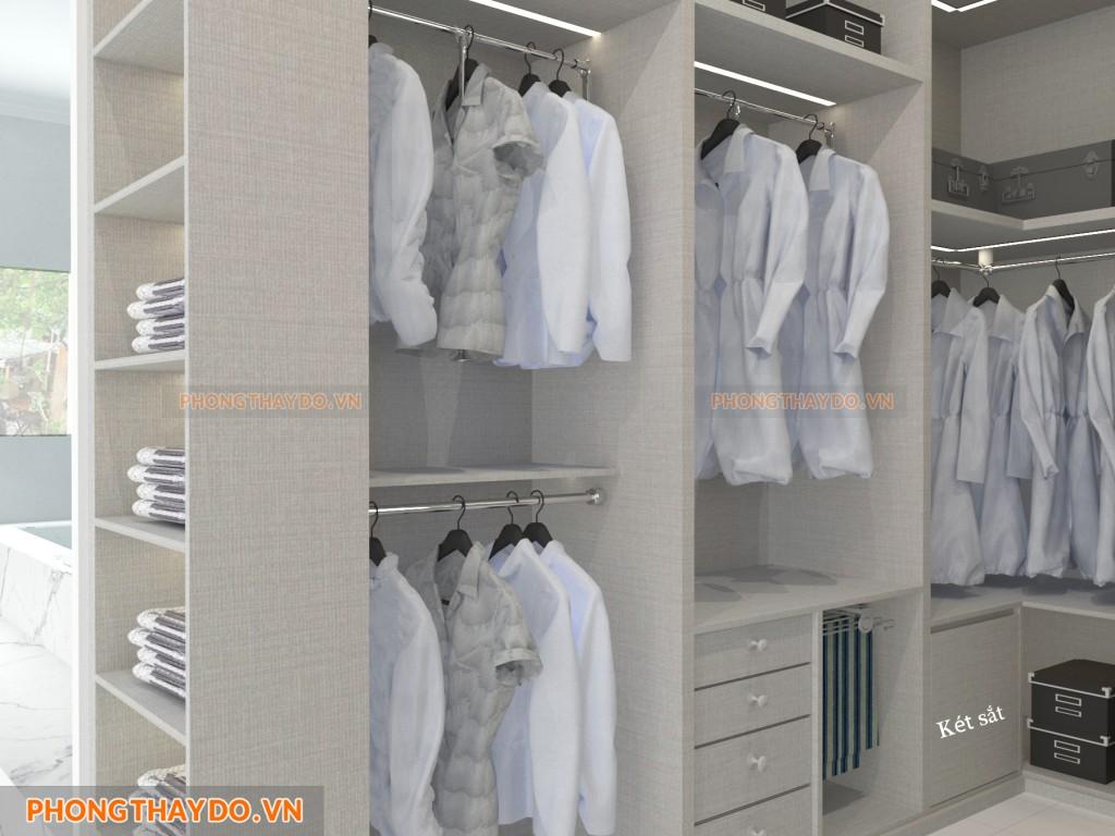 Két sắt bên trong tủ quần áo