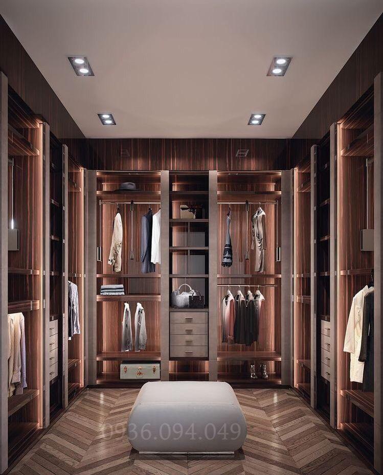 Thiết kế phòng thay đồ dựa vào điều kiện kinh tế gia đình