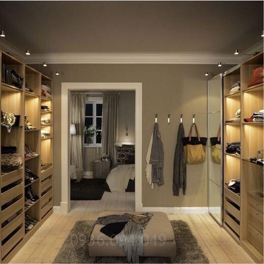 Mẫu phòng thay đồ trong phòng ngủ đơn giản, tinh tế