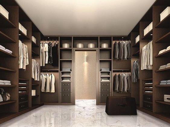Mẫu phòng thay đồ đơn giản, hiện đại