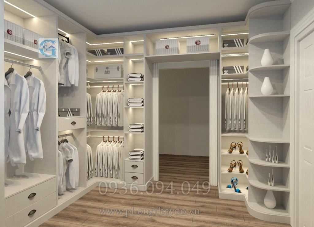 Xu hướng thiết kế phòng thay đồ cạnh phòng tắm
