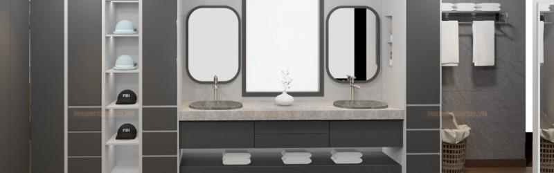 Phòng thay đồ kết hợp với phòng tắm
