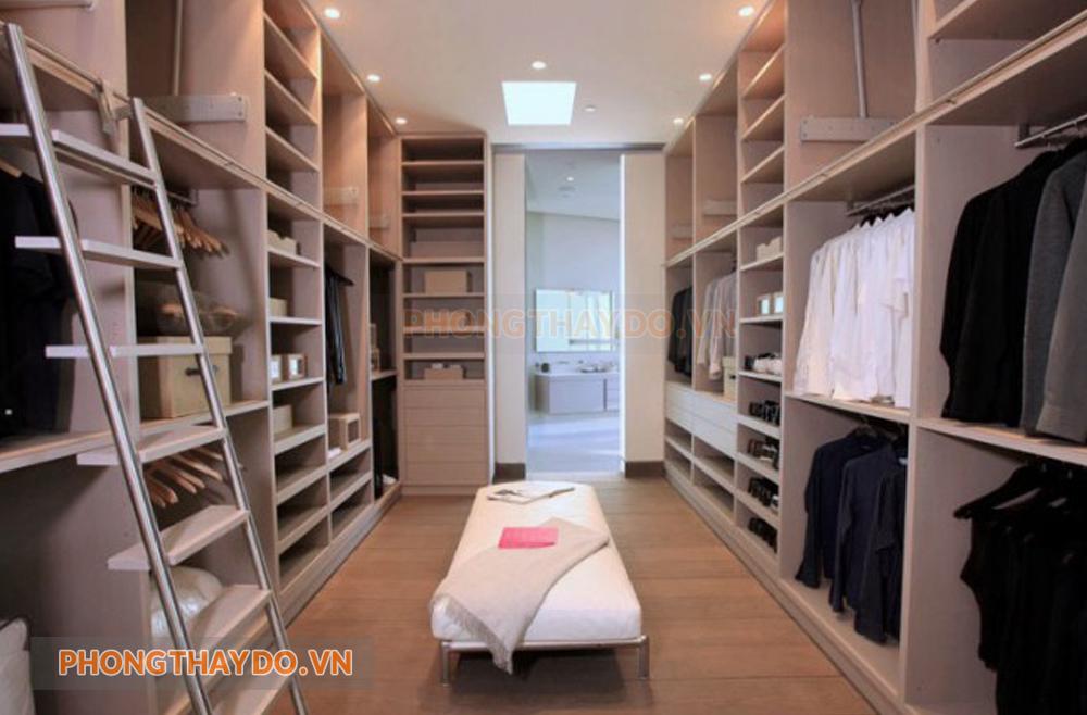 Lựa chọn phòng thay đồ theo diện tích căn phòng